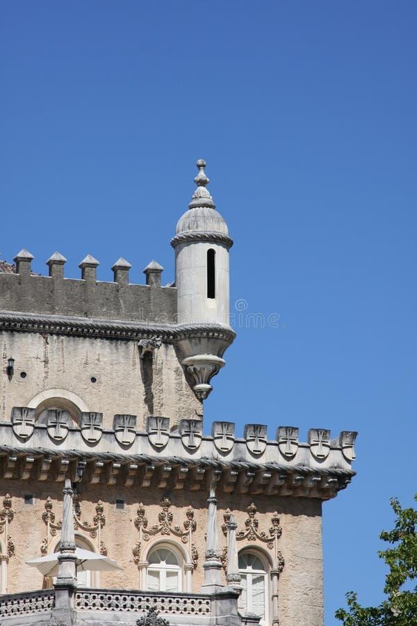 slott portugal för bussacodetaljhotell royaltyfria foton