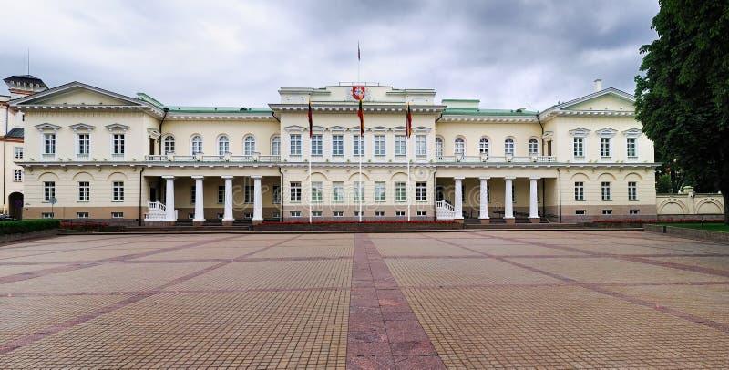 slott presidents- vilnius arkivfoton