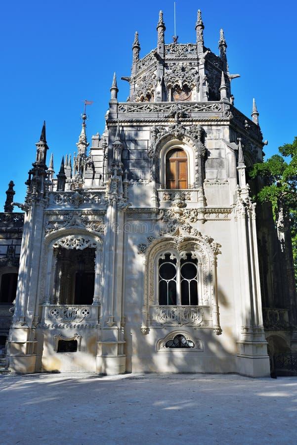 Slott Quinta da Regaleira, Sintra Portugal arkivfoton