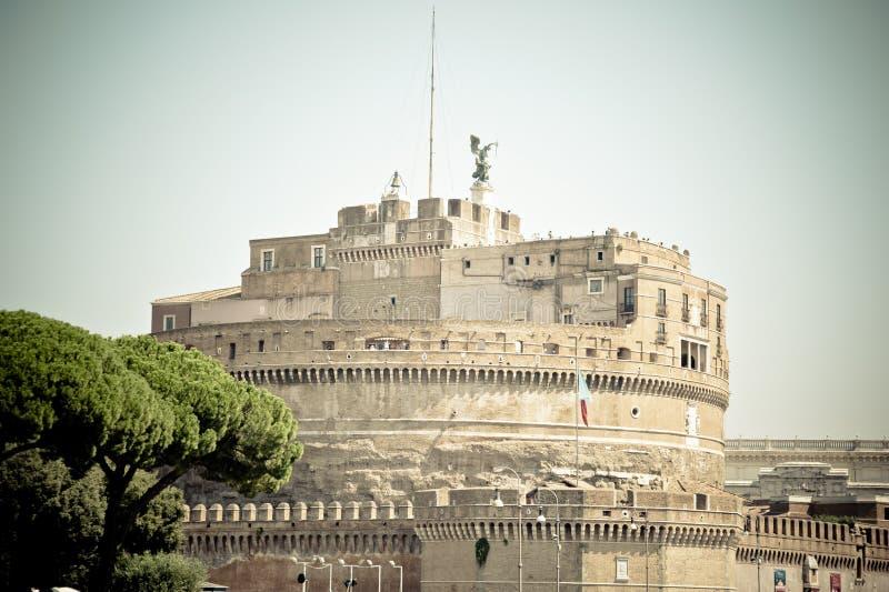 Slott Sant Angelo i Roma italy royaltyfri fotografi