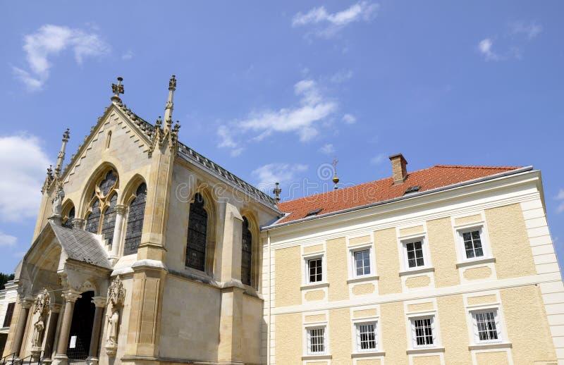 slott som mayerling vienna trän royaltyfri bild