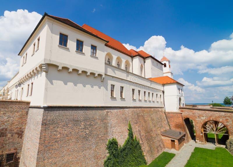 Slott Spilberk i Brno, Tjeckien fotografering för bildbyråer