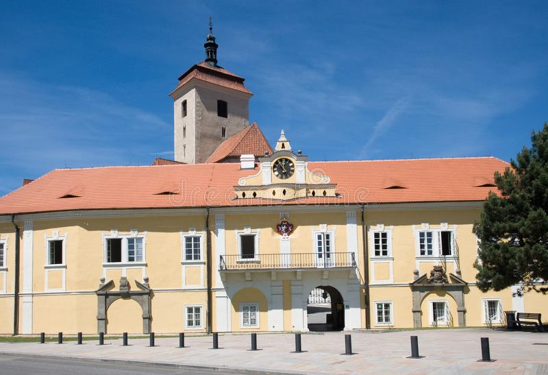 Slott Strakonice, Tjeckien royaltyfria bilder