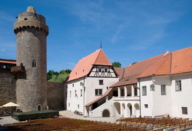 Slott Strakonice, Tjeckien fotografering för bildbyråer