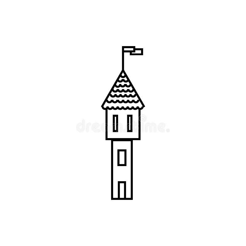 Slott teater Illustrationvektorsymbol vektor illustrationer