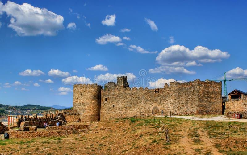 slott templar ponferrada fotografering för bildbyråer
