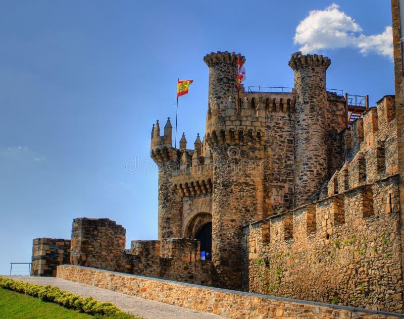 slott templar ponferrada royaltyfria bilder