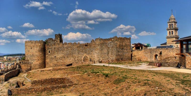 slott templar ponferrada arkivbild