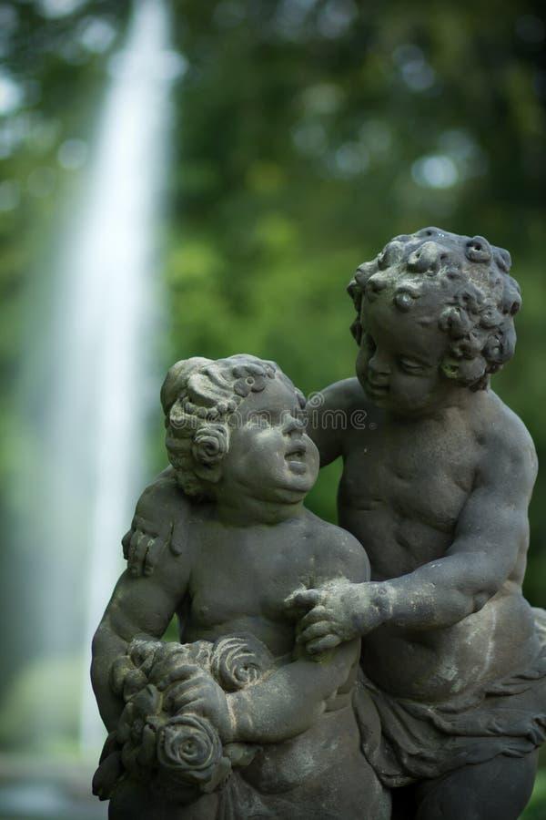 slott trädgårds- prague arkivbild