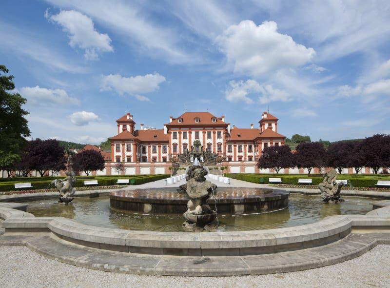 Slott Troja på Prague royaltyfria bilder
