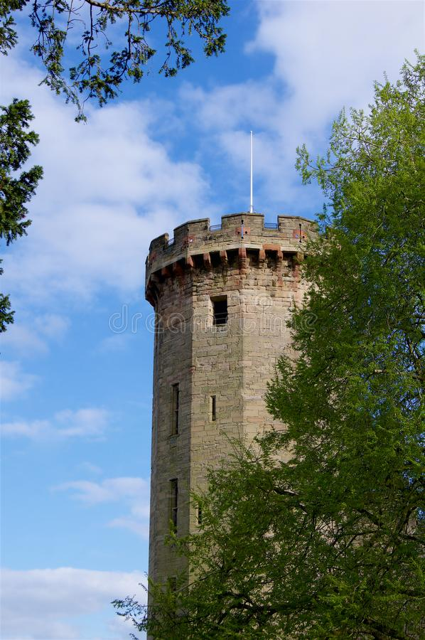 Slott Warwick Tower i England Britannien Europa royaltyfria bilder
