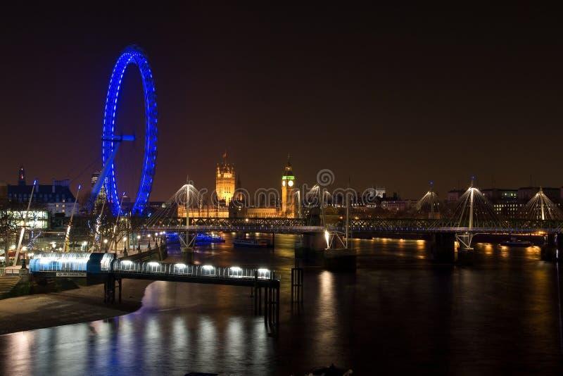 Slott Westminster För ögonlondon Natt Redaktionell Arkivbild