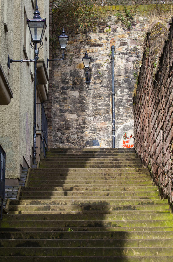 Slott Wynd som är norr i Edinburg royaltyfri foto