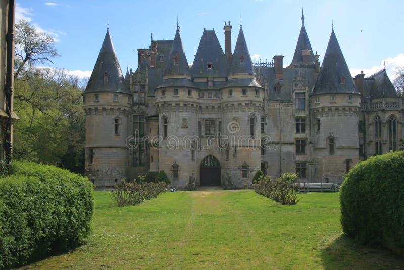 Slottar av Frankrike: Château de Vigny arkivfoto