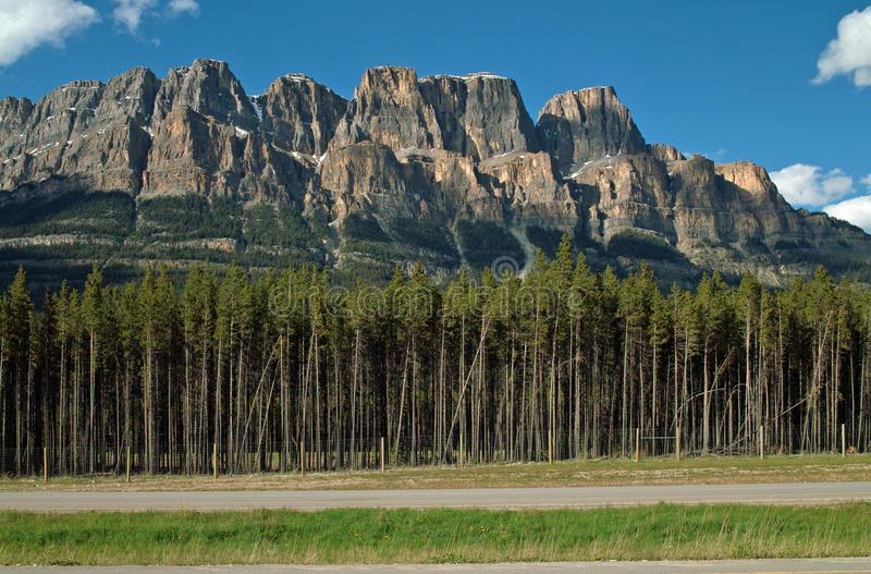 Slottberg, Banff nationalpark, Alberta, Kanada. arkivbilder