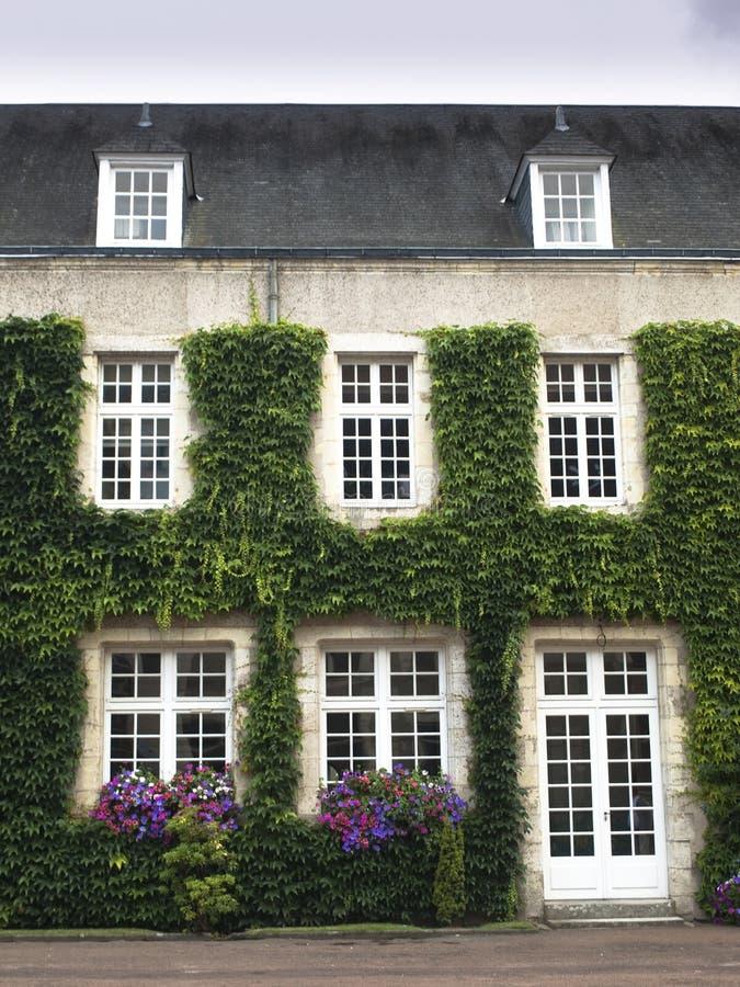 slottdörrfönster arkivbild