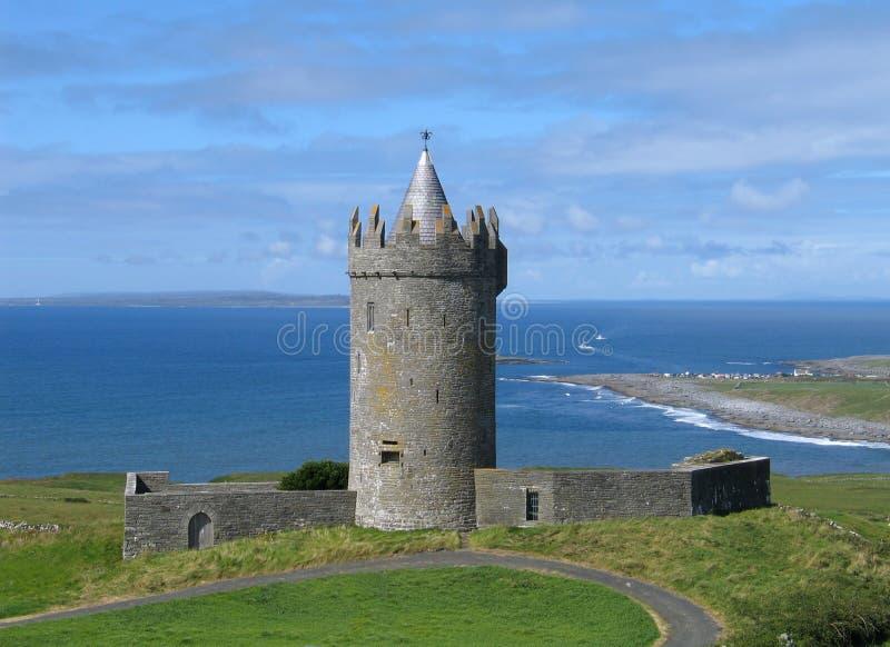 Download Slottdoonagore arkivfoto. Bild av ireland, staket, kustlinje - 244802