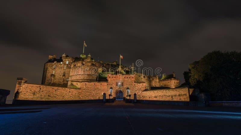 slottedinburgh natt royaltyfri bild
