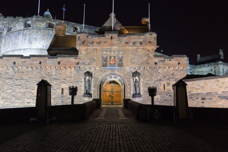 slottedinburgh natt scotland uk arkivfoto
