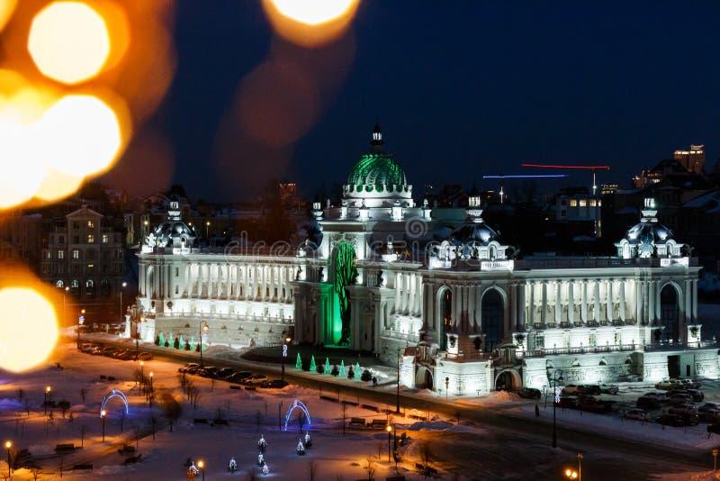 Slotten av åkerbruka Kazan arkivbild