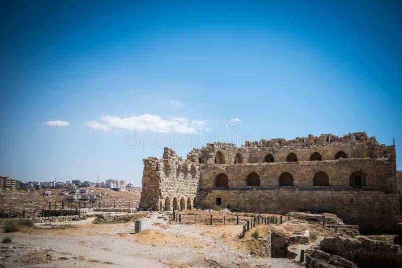 Slotten av Al Karak, Jordanien royaltyfria bilder
