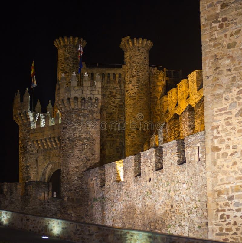 Slotten av de Templar riddarna av Ponferrada arkivfoton