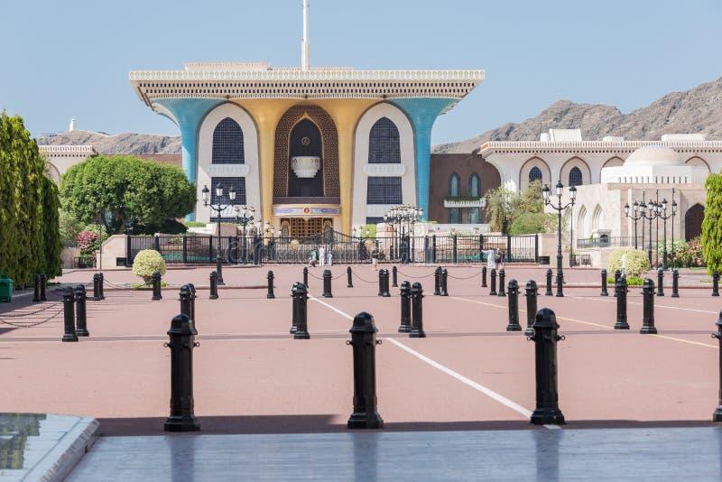 Slotten av det Sultan Qaboes facket sade Al Said royaltyfri bild
