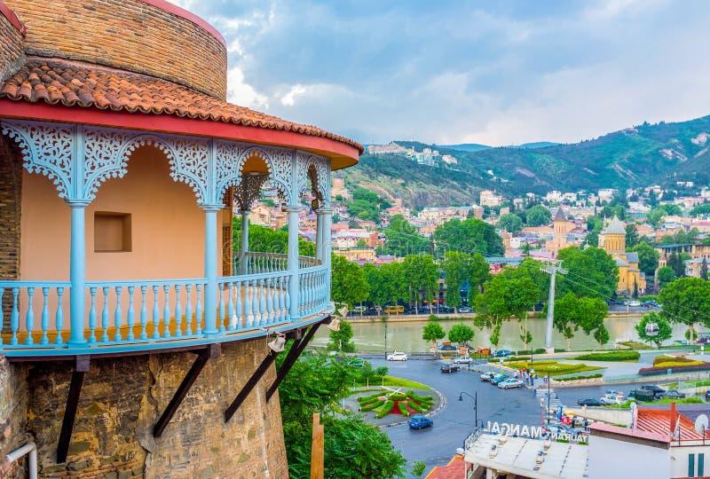 Slotten av drottningen Darejan i Tbilisi royaltyfri foto
