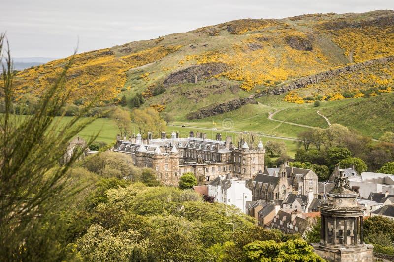 Slotten av Holyroodhouse i Edinburg royaltyfri fotografi