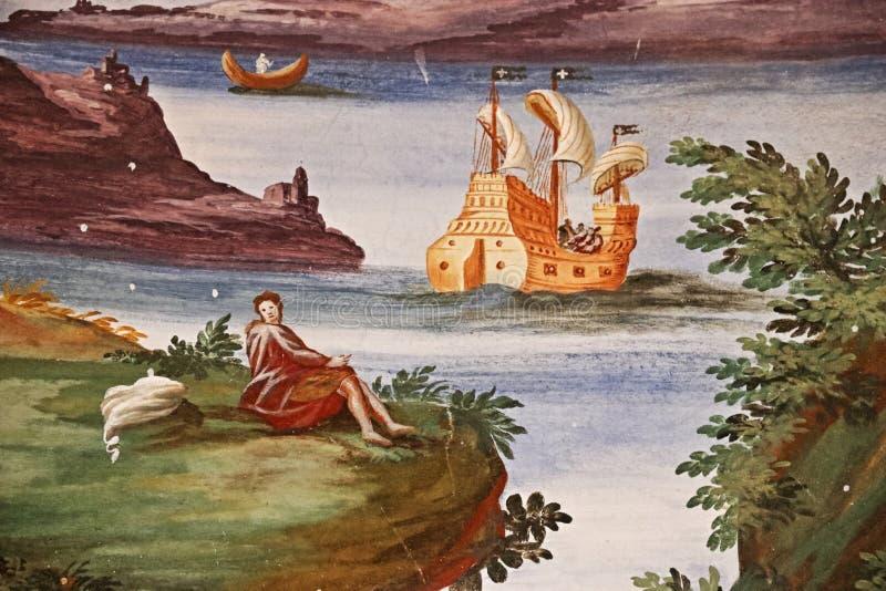 Slotten av Masino i Italien royaltyfri bild