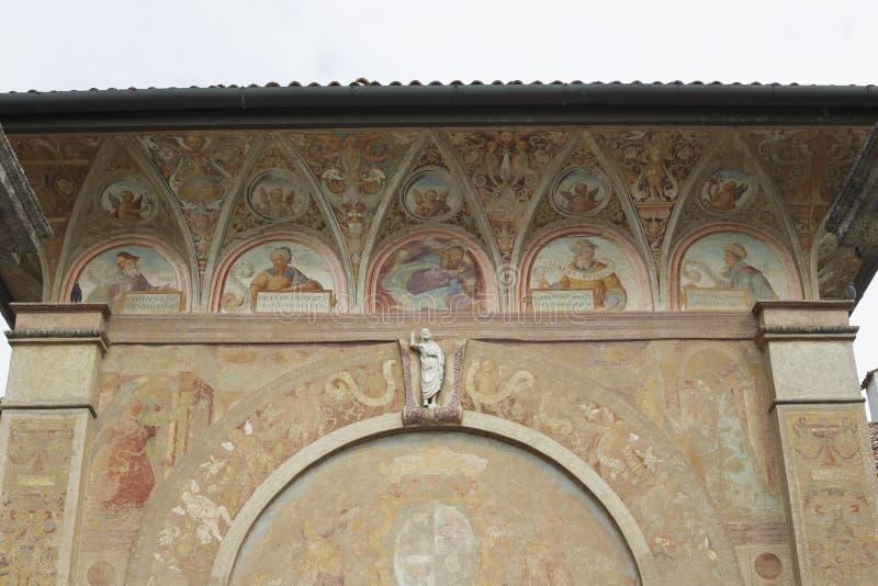 Slotten av Pavia, detaljer royaltyfria foton