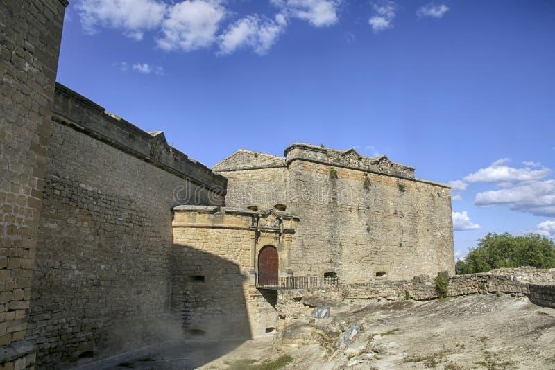 Slotten av Sabiote i landskapet av Jaén, Andalusia fotografering för bildbyråer