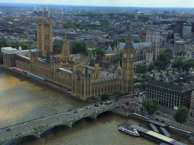 Slotten av Westminster - parlamentet av Förenade kungariket royaltyfri fotografi