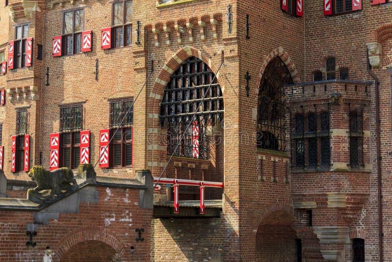 Slotten de Haar, Netherlans fotografering för bildbyråer