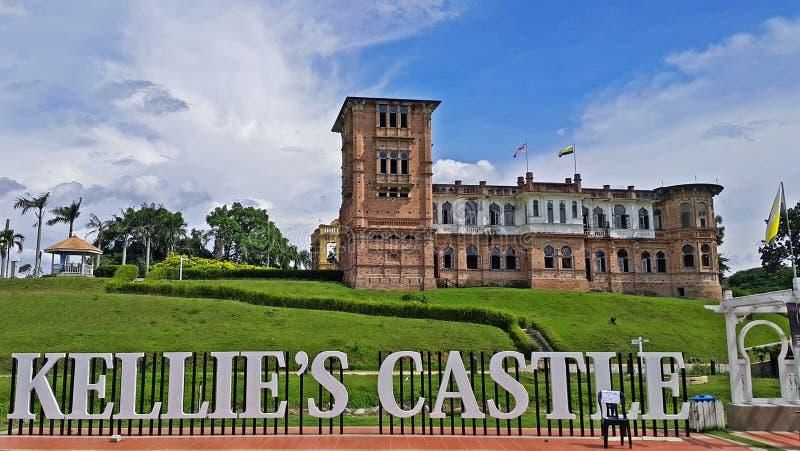 Slotten för Kellie ` s är en historisk slott som lokaliseras i Batu Gajah, Malaysia royaltyfria bilder