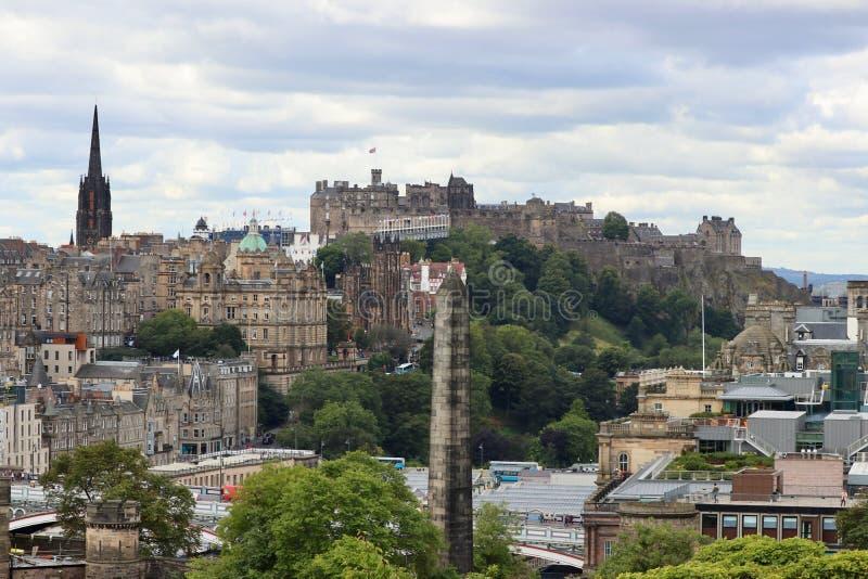 Slotten i Edinburg, Skottland arkivbilder