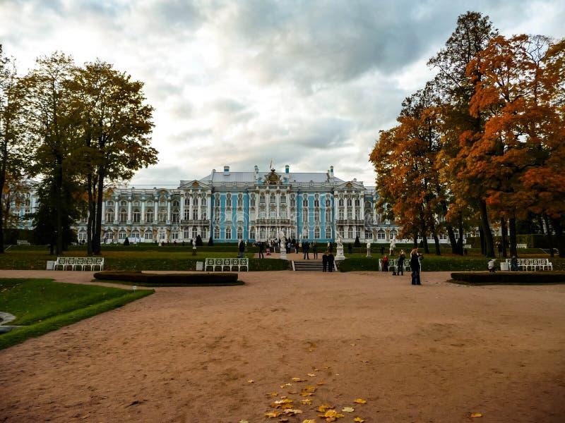 Slotten i hösten parkerar fotografering för bildbyråer
