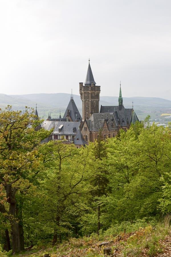 Slotten på Wernigerode royaltyfria foton