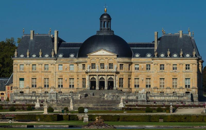 Slotten Vaux-le-Vicomte, nära Paris, Frankrike royaltyfria foton