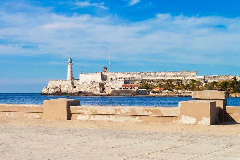Slottet av El Morro i Havana fotografering för bildbyråer