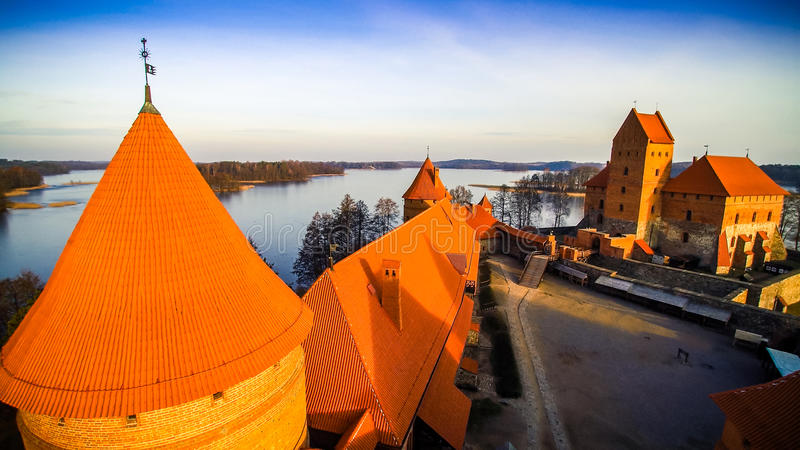 Slottet av Trakai arkivfoto