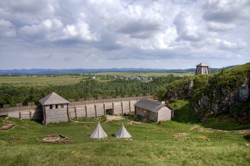 slottet Europa gammala poland fördärvar arkivbilder