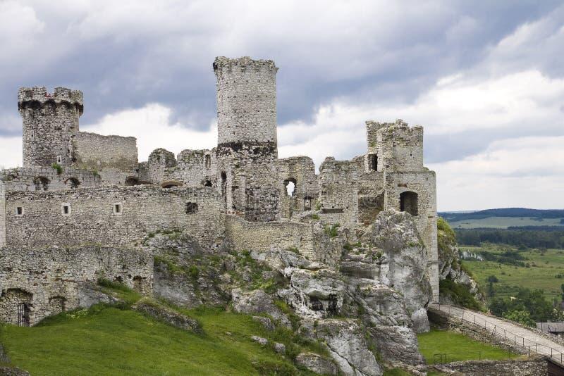 slottet Europa gammala poland fördärvar arkivbild