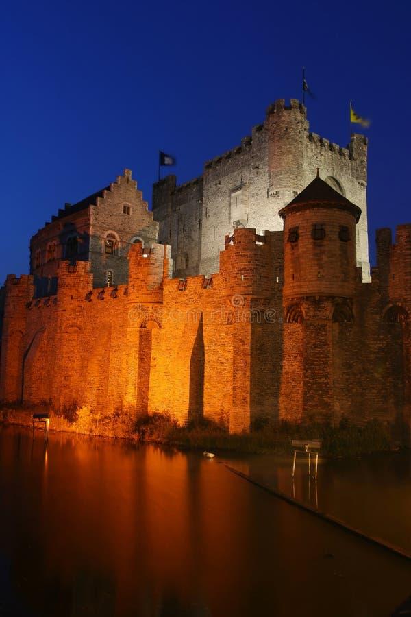 slottet gravensteen royaltyfri fotografi