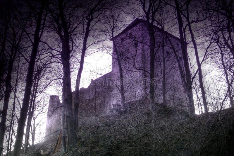 slottet varar spökskrivareare stockenfels arkivfoto