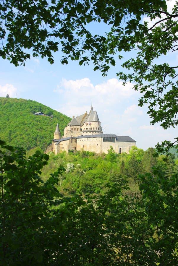 slottet vianden royaltyfri bild