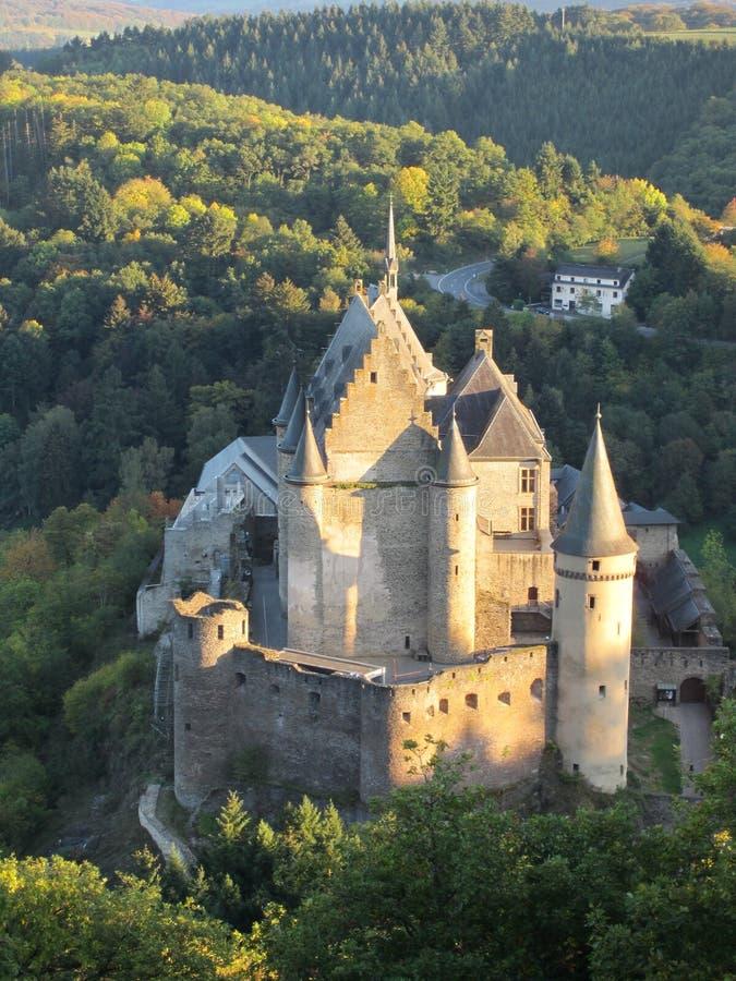 slottet vianden royaltyfria bilder