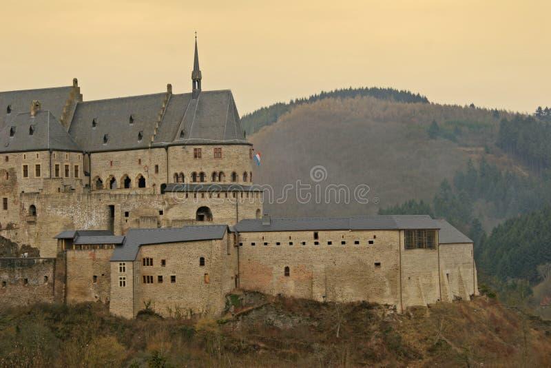 slottet vianden arkivbild