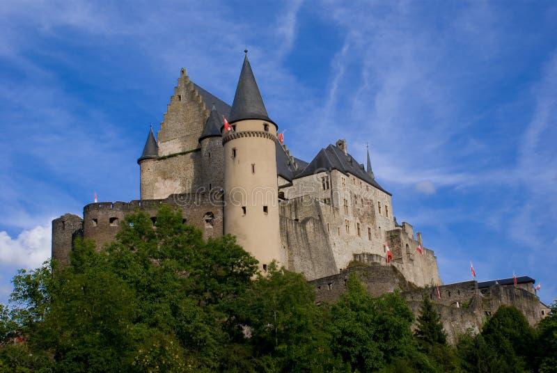 slottet vianden arkivfoton