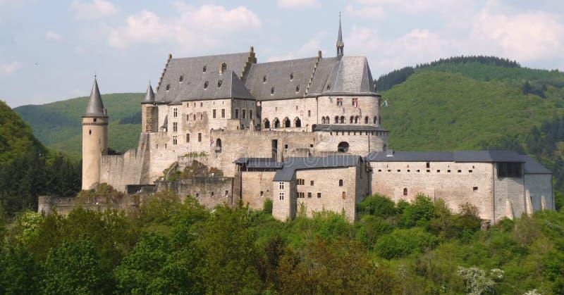 slottet vianden arkivfoto
